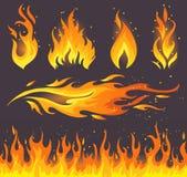 Εικονίδια πυρκαγιάς ελεύθερη απεικόνιση δικαιώματος