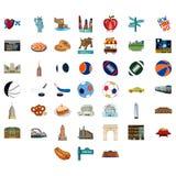 Εικονίδια πόλεων της Νέας Υόρκης Στοκ Εικόνες