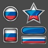 εικονίδια ρωσικά σημαιών συλλογής Στοκ φωτογραφία με δικαίωμα ελεύθερης χρήσης