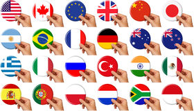 εικονίδια σημαιών που τίθ&e Στοκ φωτογραφία με δικαίωμα ελεύθερης χρήσης