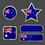 εικονίδια σημαιών συλλογής της Αυστραλίας Στοκ φωτογραφίες με δικαίωμα ελεύθερης χρήσης