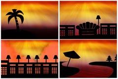 Εικονίδια σκιαγραφιών Στοκ Φωτογραφία