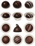 εικονίδια σοκολάτας π&omicro Στοκ φωτογραφία με δικαίωμα ελεύθερης χρήσης
