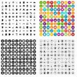 100 εικονίδια σπουδαστών καθορισμένα τη διανυσματική παραλλαγή Στοκ Φωτογραφία