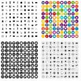 100 εικονίδια σταδίων καθορισμένα τη διανυσματική παραλλαγή Στοκ εικόνα με δικαίωμα ελεύθερης χρήσης