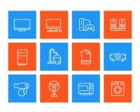 Εικονίδια συσκευών, καταναλωτικά ηλεκτρονικά Στοκ φωτογραφία με δικαίωμα ελεύθερης χρήσης