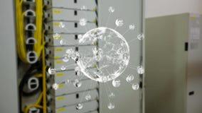 Εικονίδια σφαιρών και σχεδιαγράμματος κρυστάλλου ελεύθερη απεικόνιση δικαιώματος