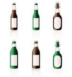 εικονίδια σχεδίου μπουκαλιών μπύρας που τίθενται Στοκ εικόνα με δικαίωμα ελεύθερης χρήσης