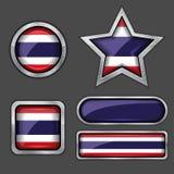 εικονίδια Ταϊλάνδη σημαιών συλλογής Στοκ Εικόνες