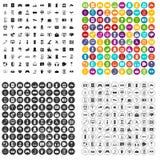 100 εικονίδια τεχνολογίας λογισμικού καθορισμένα τη διανυσματική παραλλαγή Στοκ εικόνα με δικαίωμα ελεύθερης χρήσης