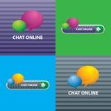 Εικονίδια της συνομιλίας on-line για την επικοινωνία Διαδίκτυο διανυσματική απεικόνιση