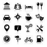 Εικονίδια τουρισμού ταξιδιού που τίθενται -   Στοκ εικόνα με δικαίωμα ελεύθερης χρήσης
