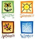 Εικονίδια του Four Seasons Ελεύθερη απεικόνιση δικαιώματος