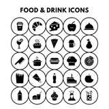 Εικονίδια τροφίμων και ποτών ελεύθερη απεικόνιση δικαιώματος