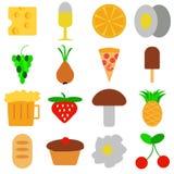 εικονίδια τροφίμων που τί&th Διανυσματική απεικόνιση EPS10 Στοκ Εικόνες