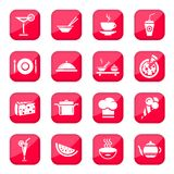 Εικονίδια τροφίμων Στοκ φωτογραφία με δικαίωμα ελεύθερης χρήσης
