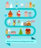 Εικονίδια των χαρακτήρων Χριστουγέννων και simbols Στοκ φωτογραφίες με δικαίωμα ελεύθερης χρήσης