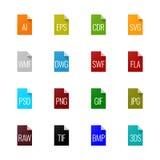 Εικονίδια τύπων αρχείου - γραφική παράσταση Στοκ φωτογραφία με δικαίωμα ελεύθερης χρήσης