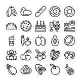 Εικονίδια φρούτων και λαχανικών απεικόνιση αποθεμάτων
