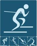 Εικονίδια χειμερινού αθλητισμού καθορισμένα Στοκ φωτογραφία με δικαίωμα ελεύθερης χρήσης