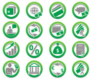 εικονίδια χρηματοδότησης συλλογής τραπεζών Στοκ φωτογραφίες με δικαίωμα ελεύθερης χρήσης
