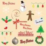 εικονίδια Χριστουγέννων Στοκ Φωτογραφίες