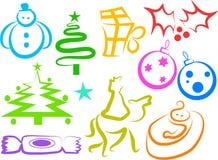 εικονίδια Χριστουγέννων Στοκ εικόνες με δικαίωμα ελεύθερης χρήσης