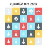 Εικονίδια χριστουγεννιάτικων δέντρων Στοκ φωτογραφίες με δικαίωμα ελεύθερης χρήσης