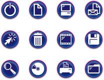 εικονίδια 1 υπολογιστή που τίθενται Στοκ Εικόνες