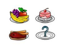 Εικονίδια 4 τροφίμων Στοκ Εικόνες
