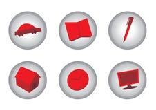 εικονίδια Στοκ εικόνες με δικαίωμα ελεύθερης χρήσης