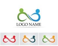 Εικονίδια app προτύπων λογότυπων και συμβόλων ανθρώπων απείρου διανυσματική απεικόνιση