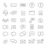 30 εικονίδια Chating Στοκ Εικόνες