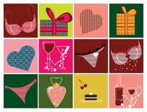 εικονίδια prezents Στοκ εικόνα με δικαίωμα ελεύθερης χρήσης