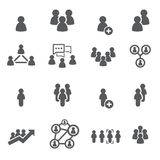 εικονίδιο ένα καθορισμένη εργασία χρηστών προσώπων ανθρώπων διανυσματική απεικόνιση