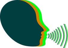 Εικονίδιο έντασης του ήχου φωνής Στοκ Φωτογραφίες