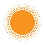Εικονίδιο ήλιων Ημίτονος πορτοκαλής κύκλος με το στοιχείο σχεδίου λογότυπων κύκλων σύστασης κλίσης επίσης corel σύρετε το διάνυσμ Στοκ Εικόνες