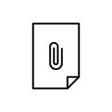 Εικονίδιο ή λογότυπο εγγράφων ασφαλίστρου στο ύφος γραμμών Στοκ φωτογραφίες με δικαίωμα ελεύθερης χρήσης