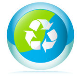εικονίδιο ανακύκλωσης Στοκ φωτογραφίες με δικαίωμα ελεύθερης χρήσης