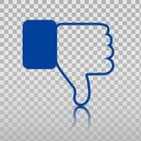 Εικονίδιο απέχθειας Αντίχειρας κάτω, απεικόνιση χεριών ή δάχτυλων ή απεικόνιση δάχτυλων στο διαφανές υπόβαθρο Σύμβολο Στοκ Φωτογραφία
