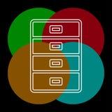 Εικονίδιο αρχείων γραφείου - διανυσματικό συρτάρι αρχείων διανυσματική απεικόνιση