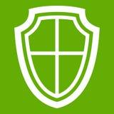 Εικονίδιο ασπίδων πράσινο Στοκ φωτογραφία με δικαίωμα ελεύθερης χρήσης