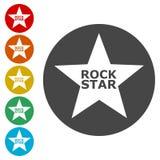 Εικονίδιο αστέρων της ροκ ελεύθερη απεικόνιση δικαιώματος
