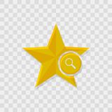 Εικονίδιο αστεριών, πιό magnifier εικονίδιο απεικόνιση αποθεμάτων
