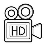 Εικονίδιο βιντεοκάμερων ελεύθερη απεικόνιση δικαιώματος