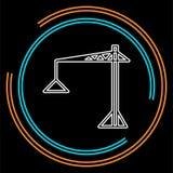 Εικονίδιο γερανών - διανυσματικός γερανός κατασκευής διανυσματική απεικόνιση
