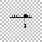 Εικονίδιο γερανών επίπεδο ελεύθερη απεικόνιση δικαιώματος