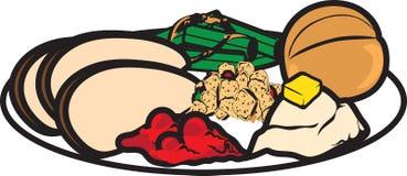 Εικονίδιο γευμάτων ημέρας των ευχαριστιών διανυσματική απεικόνιση