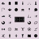 Εικονίδιο γηπέδων ποδοσφαίρου Καθολικό αθλητικών εικονιδίων που τίθεται για τον Ιστό και κινητό διανυσματική απεικόνιση