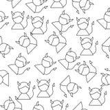 Εικονίδιο γραμμών ατόμων διαβόλων στο ύφος σχεδίων Ένα από το εικονίδιο αγγέλου και συλλογής δαιμόνων μπορεί να χρησιμοποιηθεί γι Απεικόνιση αποθεμάτων